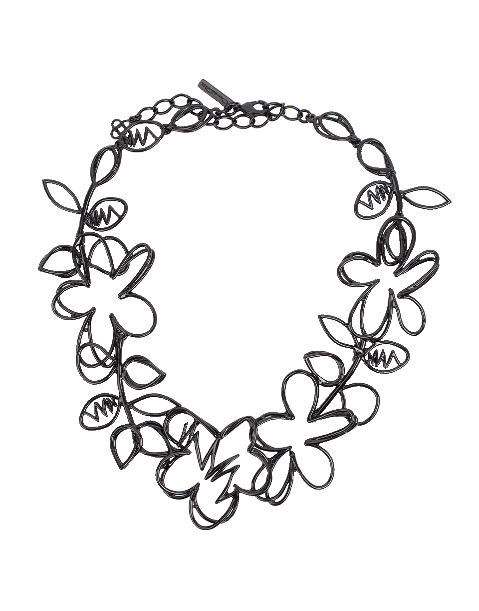 Drawing ovals scribble. Botanical necklace in jewelry