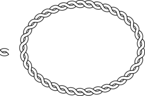 Drawing ovals rope. Border oval clip art