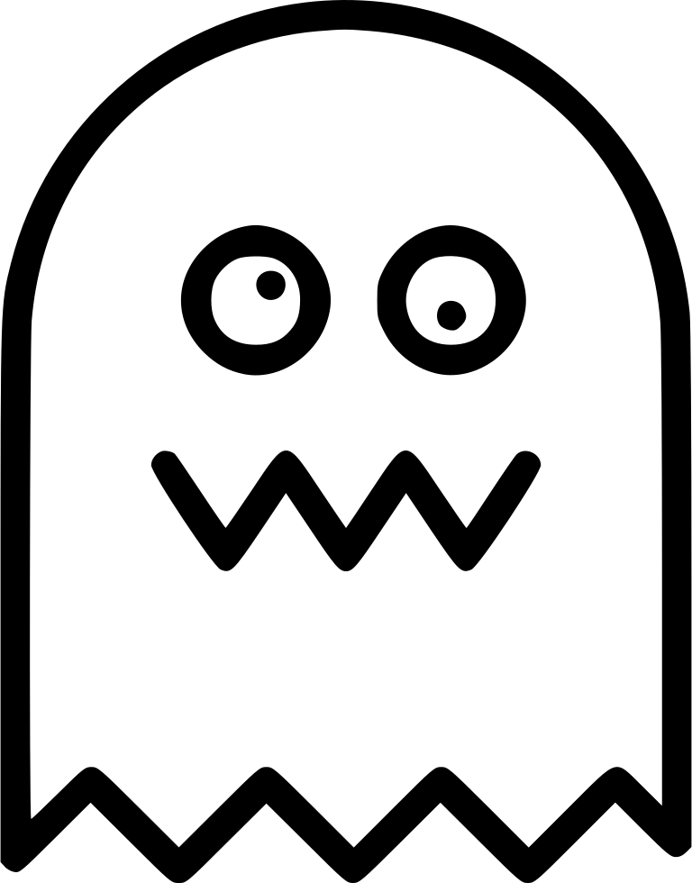 Pac-man png bitmap. Pacman ghost drawing at