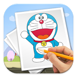 How to draw apk. Drawing paint doraemon graphic library stock