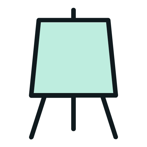 Drawing icons creative. Art color design illustration
