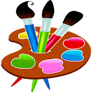 Drawing paint menggambar. Painting and for kids