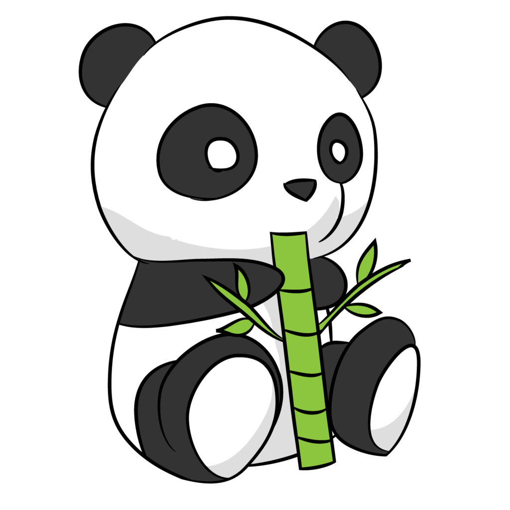 Drawing pandas abstract. Collection of cute