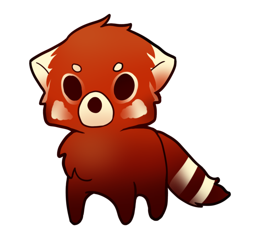 Drawing pandas anime. Red panda again by