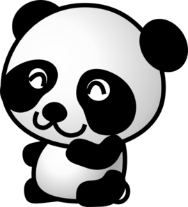 Drawing pandas art. Panda clip at clker