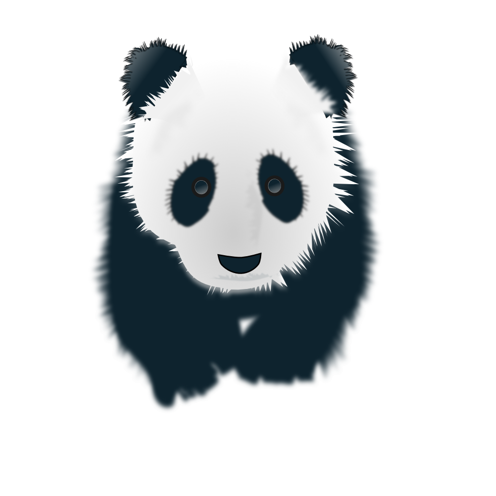 Drawing pandas black and white. Clipartist net clip art