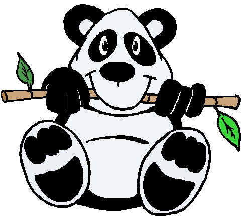 Drawing pandas craft. Chinese wand is great