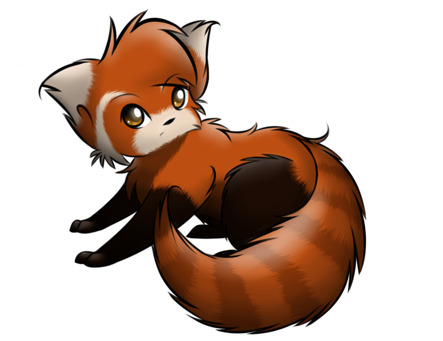 Animate drawing cute chibi dog. Drawn red panda fun