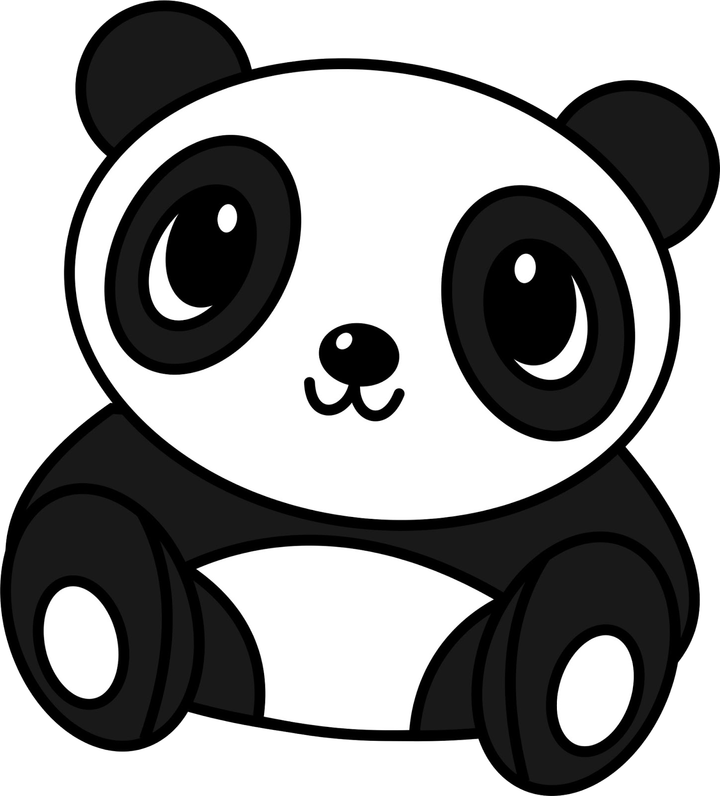 Drawing pandas giant panda. Baby bear cuteness transprent