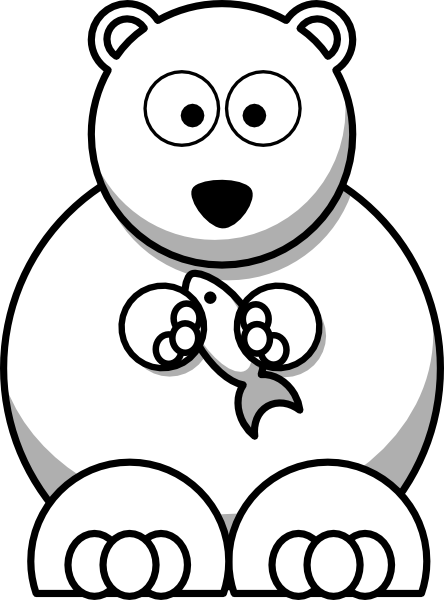 Grizzly drawing polar bear. Free panda outline download