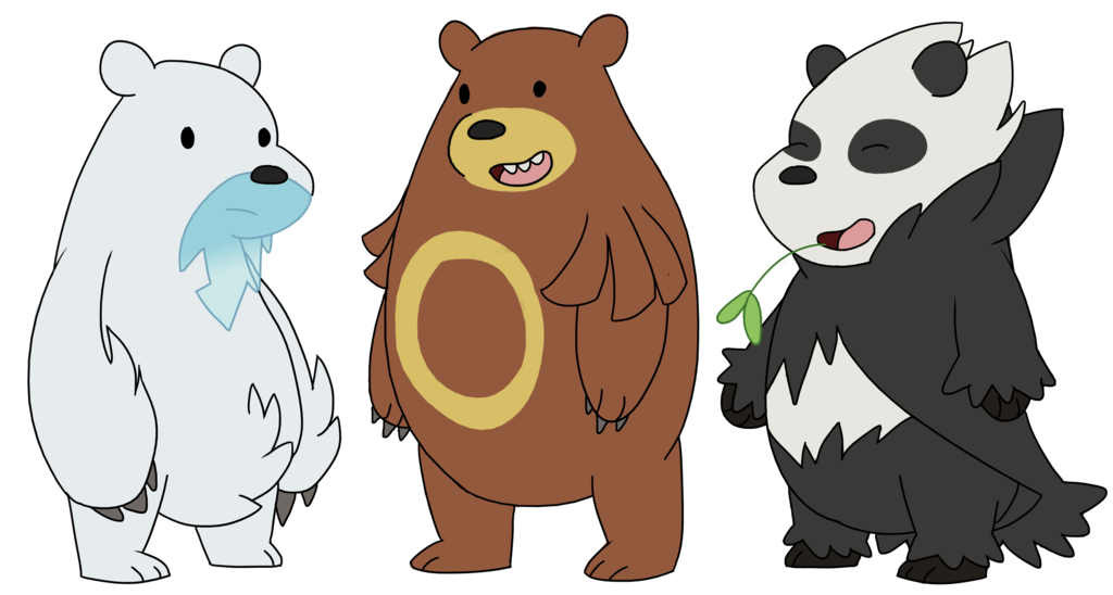Grizzly drawing we bare bears. Pokemon grizz panda ice