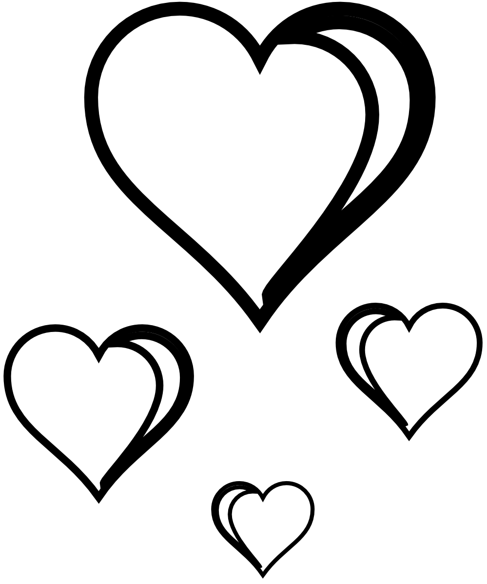 Drawing pandas heart. Line clipart panda free