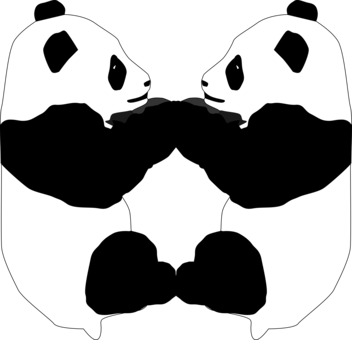 Mist drawing panda. Computer icons document outline