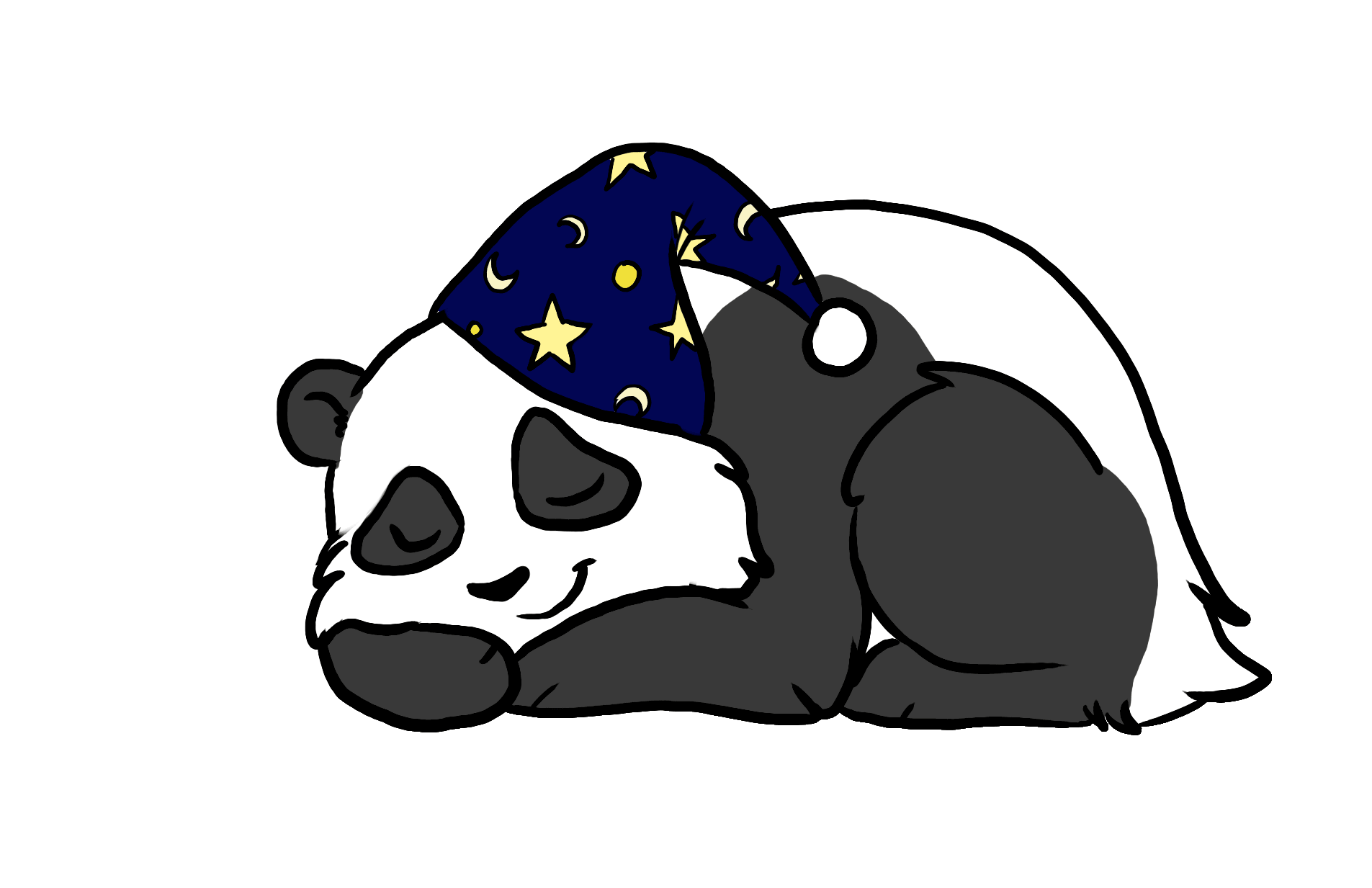 Drawing pandas sleeping. E s c mattress