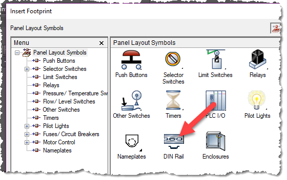Drawing panel autocad electrical. What is an footprint