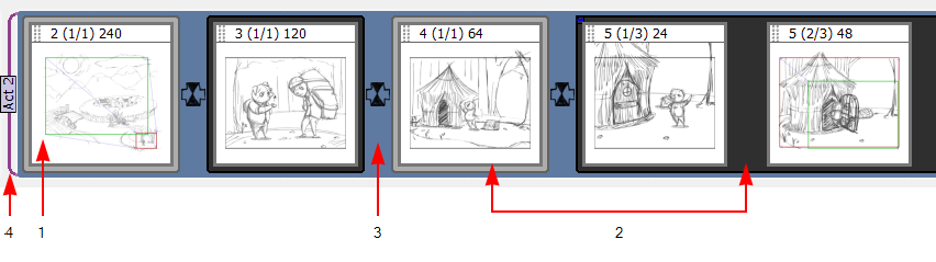 Drawing storyboards camera movement. Storyboard pro online help