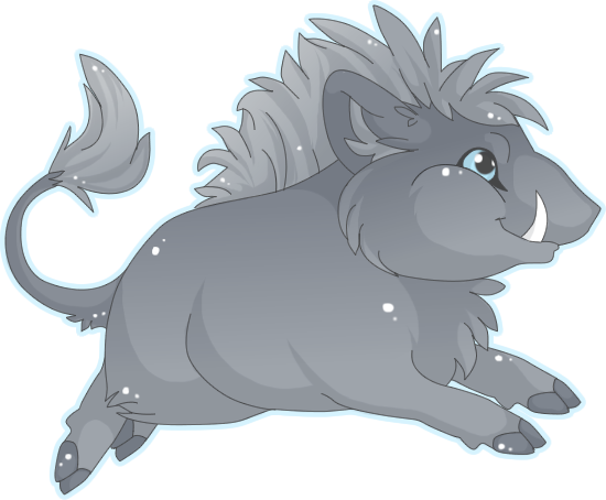 Drawing panther chibi. Boar by mbpanther on