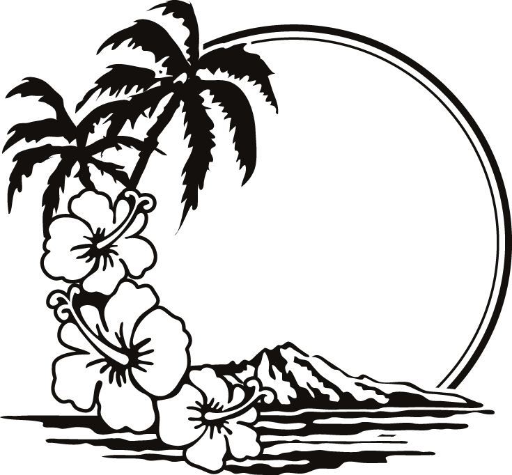Holiday silhouette at getdrawings. Drawing beach graphic transparent library
