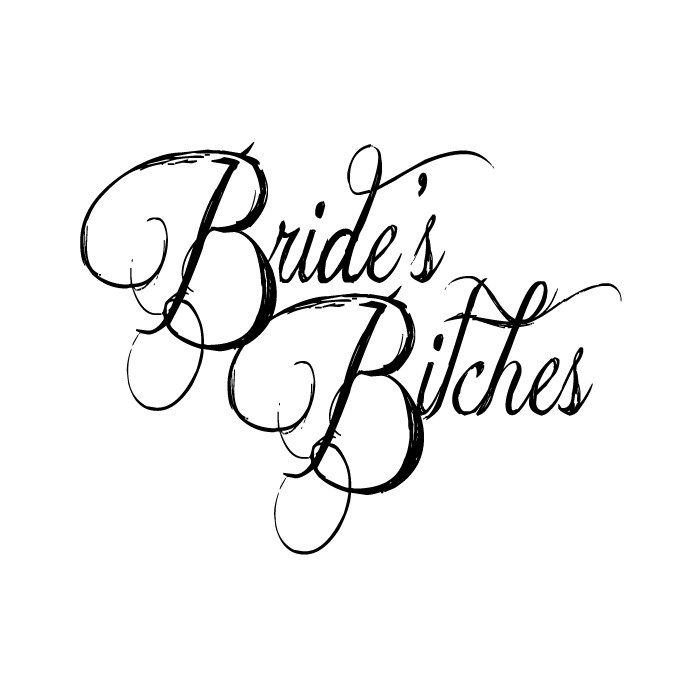 Drawing party bachelorette. Brides bitches bridal wedding