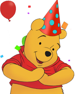 Drawing party winnie the pooh. Happy birthday is it