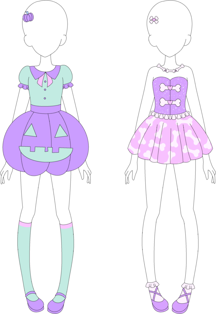 Drawing pastel fairy. Mra kei halloween collection