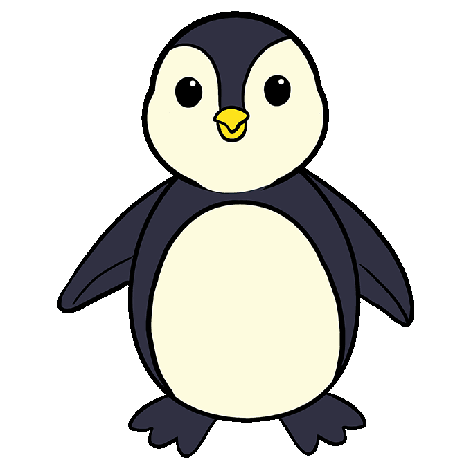 Drawing penguins african penguin. How to draw a