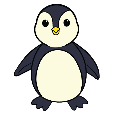 Collection of free download. Drawing penguins cute graphic library download