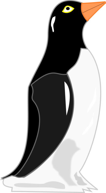 Drawing penguins logo. King penguin computer icons