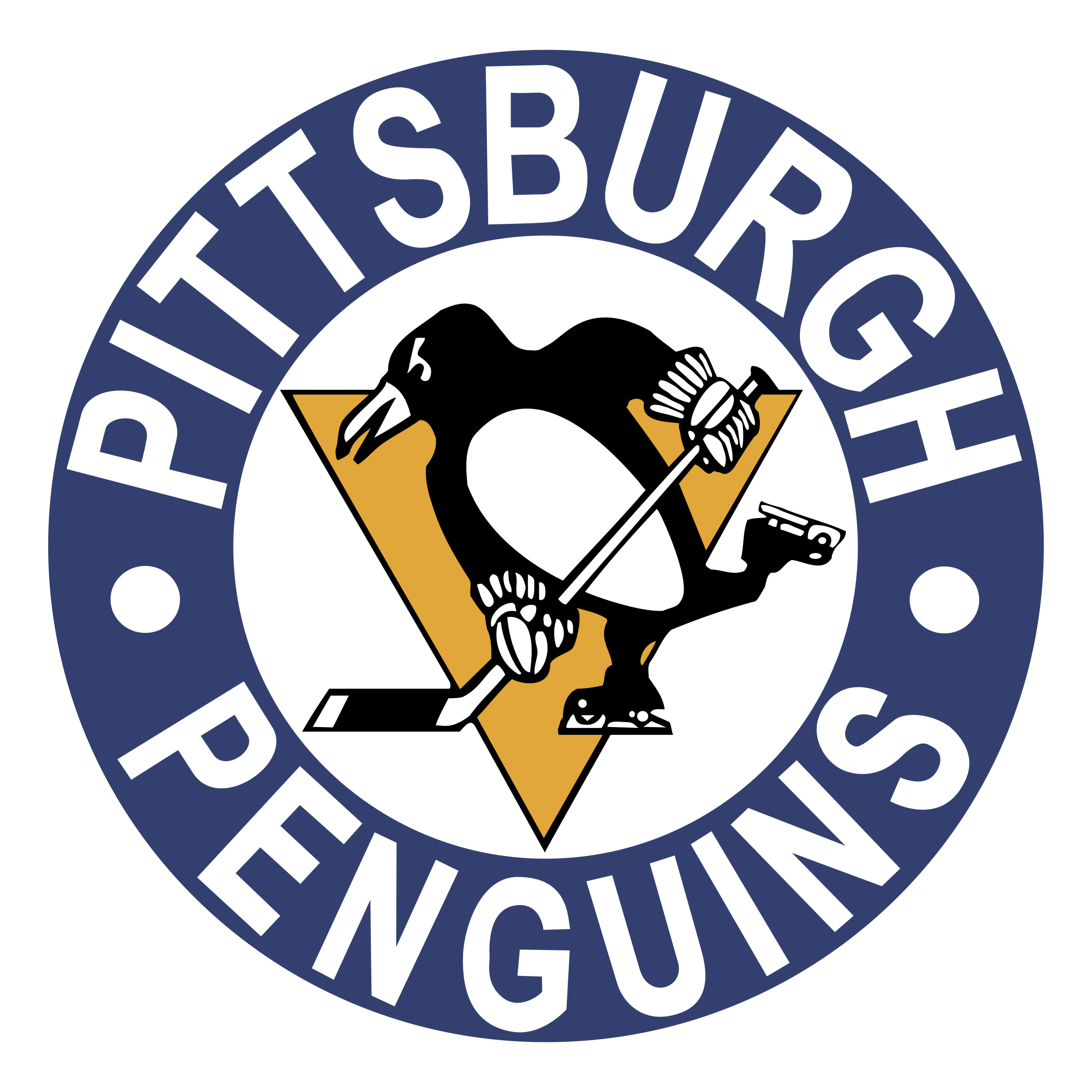 Drawing penguins logo. Pittsburgh png transparent svg