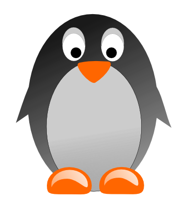 Penguin clipart simple. Free cartoon download clip
