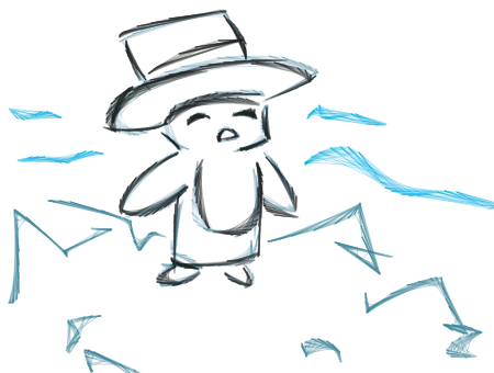 Drawing penguins top hat. Forum draw a penguin