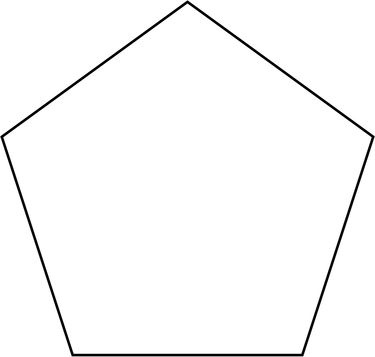 Drawing pentagon simple. Convex polygon wikipedia