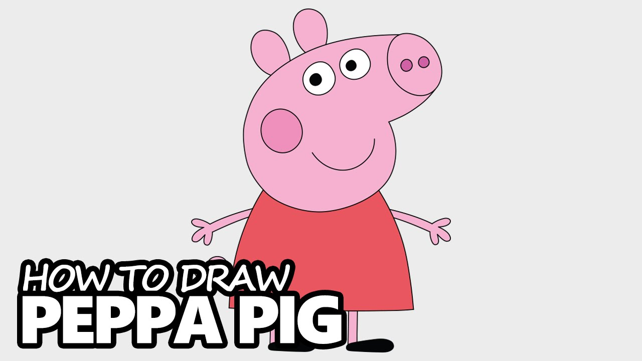 Drawing peppa pig. How to draw easy