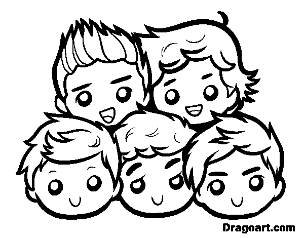 Dragoart drawing cake. One direction coloring pages