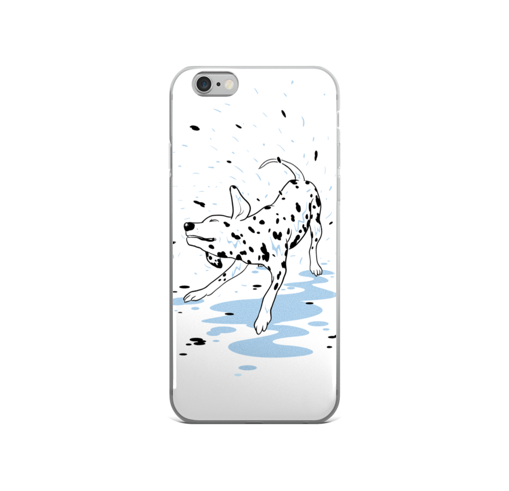 Drawing phone day. Dalmatians shower cases flying