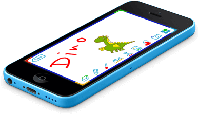 Drawing phone kid. Tocomail safe email for