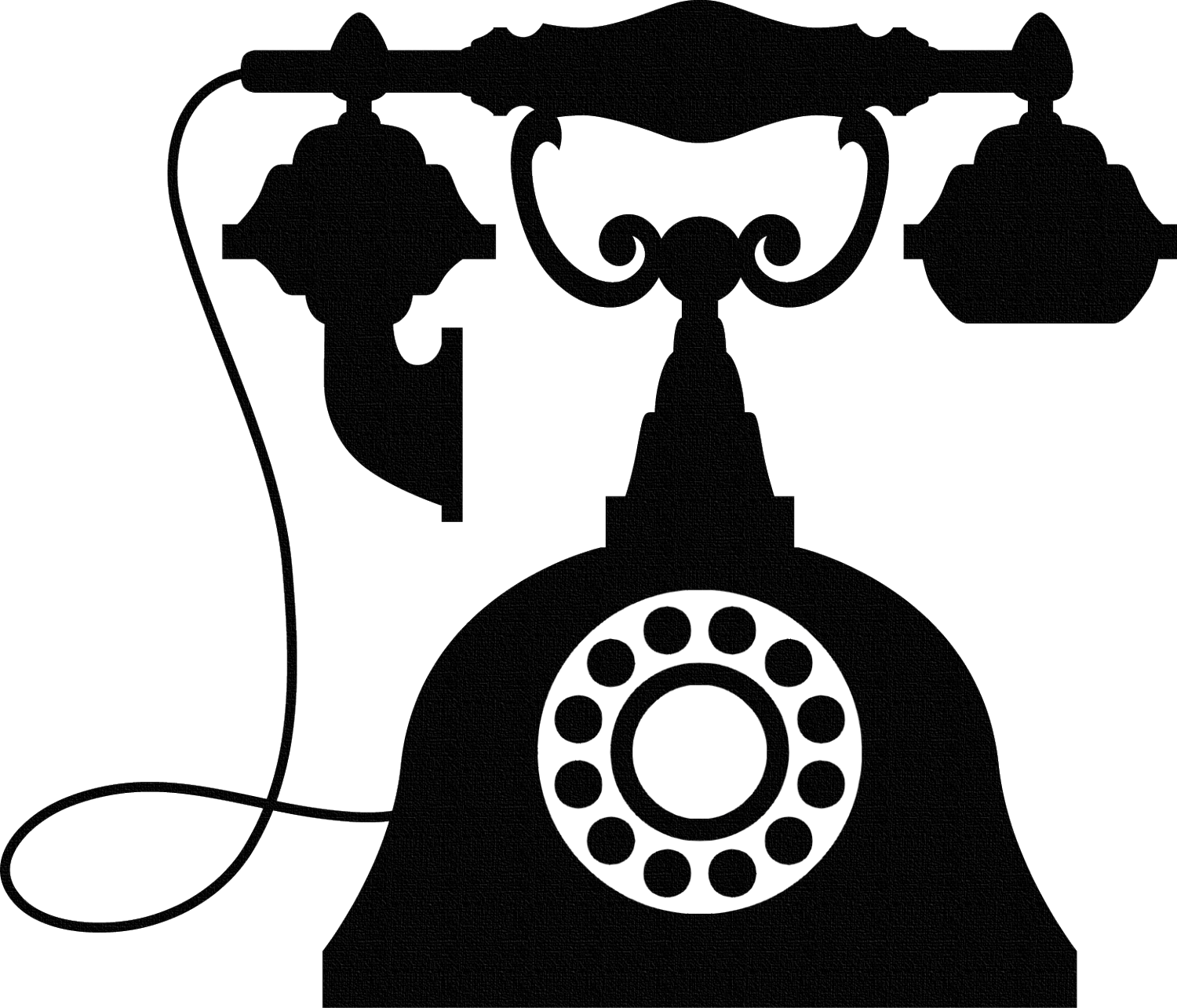 Drawing phone victorian. Telephone antique for
