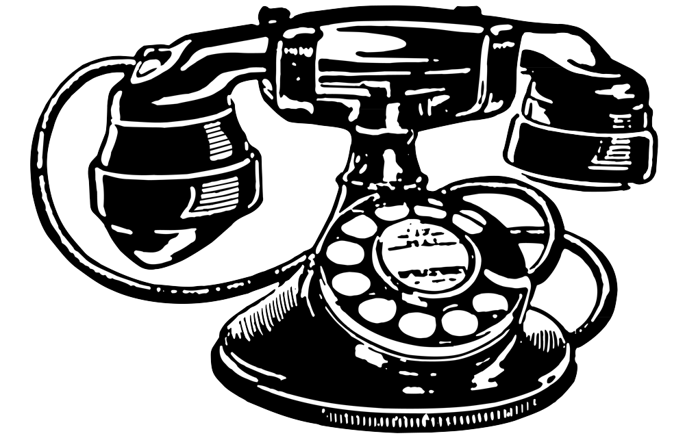 Drawing Phone Vintage Telephone Transparent & PNG Clipart Free