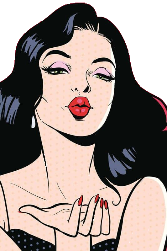 Drawing phone pop art. Poster illustration european and