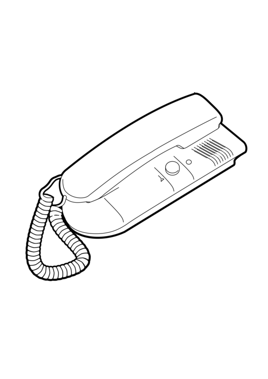 Drawing phone telephone receiver. Coloring book booth mobile
