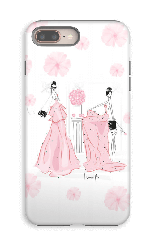 Drawing phone victorian. Pink roses caseapp case