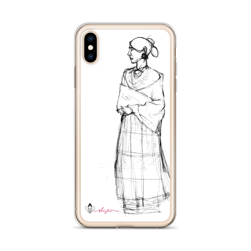 Drawing phone victorian. Navajo woman iphone case