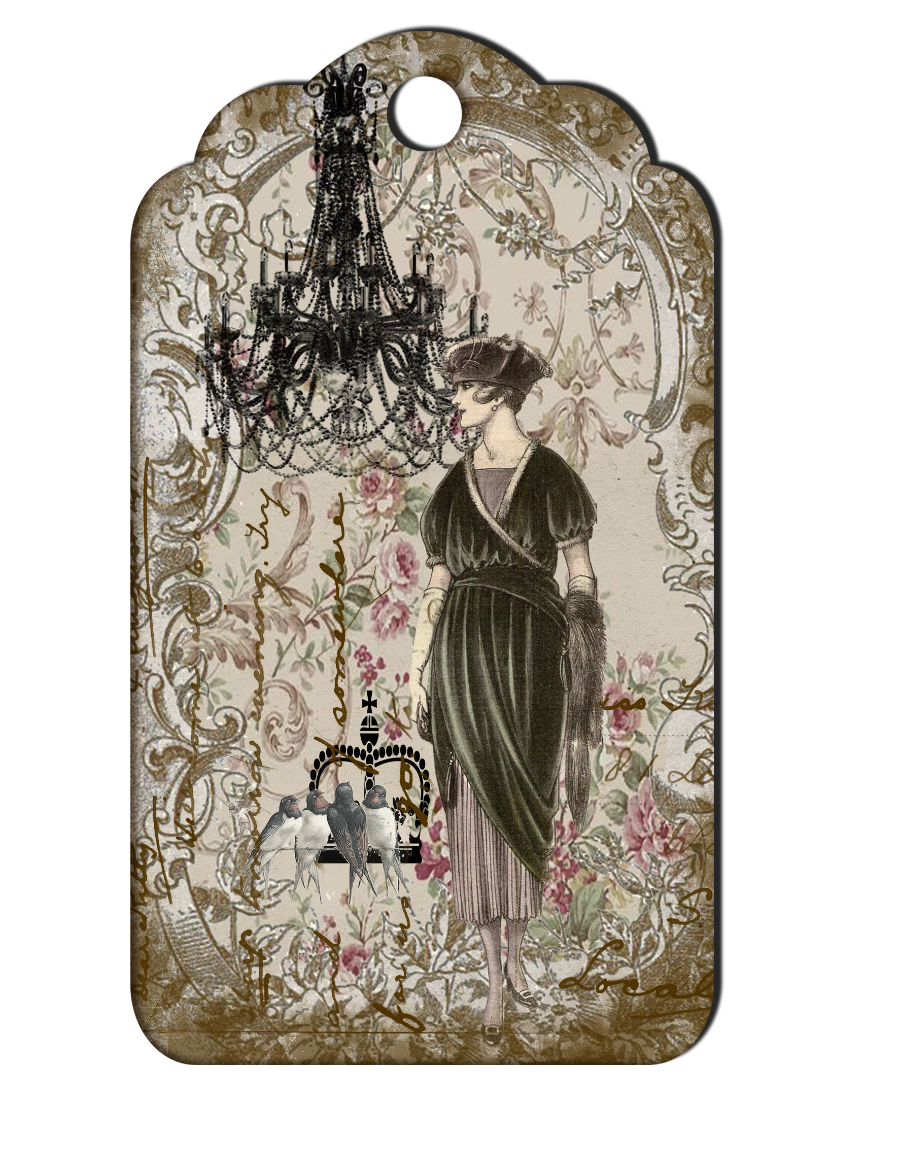 Drawing phone victorian. Printable vintage woman and