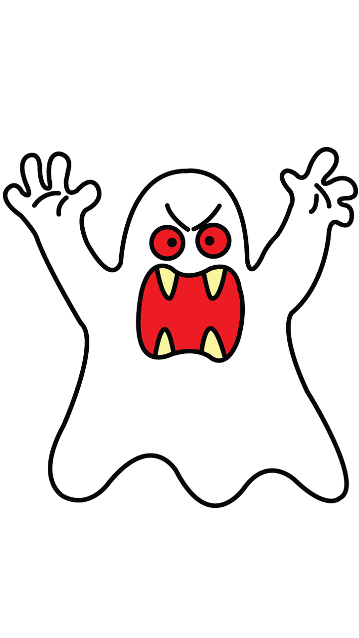 Ghostface drawing easy. Scary gost tutorial for