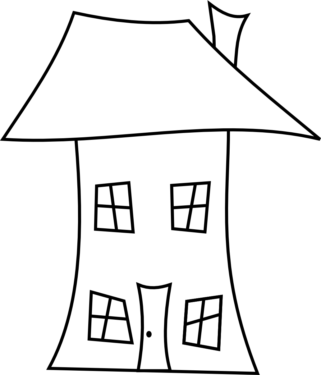 Drawing photos home. House line clipart best