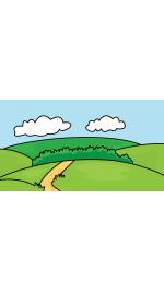 Drawing roads background. How to draw nature
