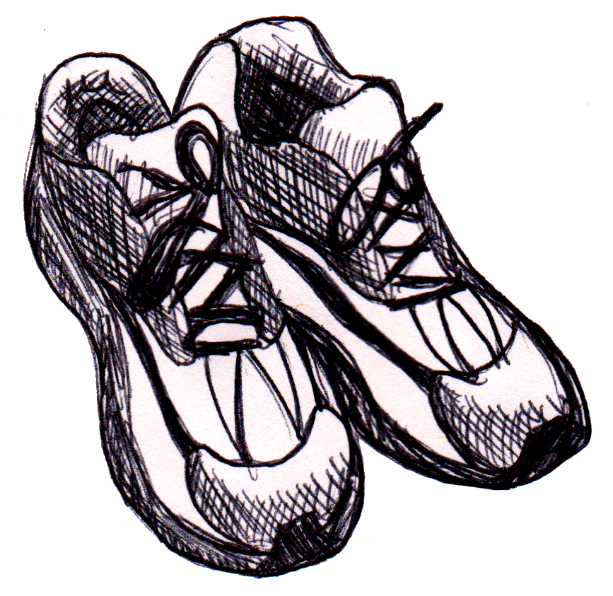 drawing illustrations sport shoe