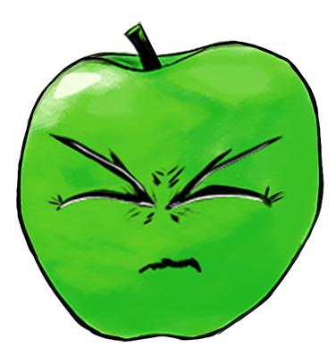 Drawing photoshop apple. Red and green ios