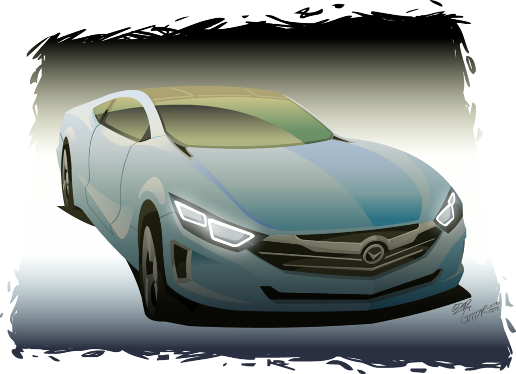 Drawing photoshop car. Incesso by potoobrigham on