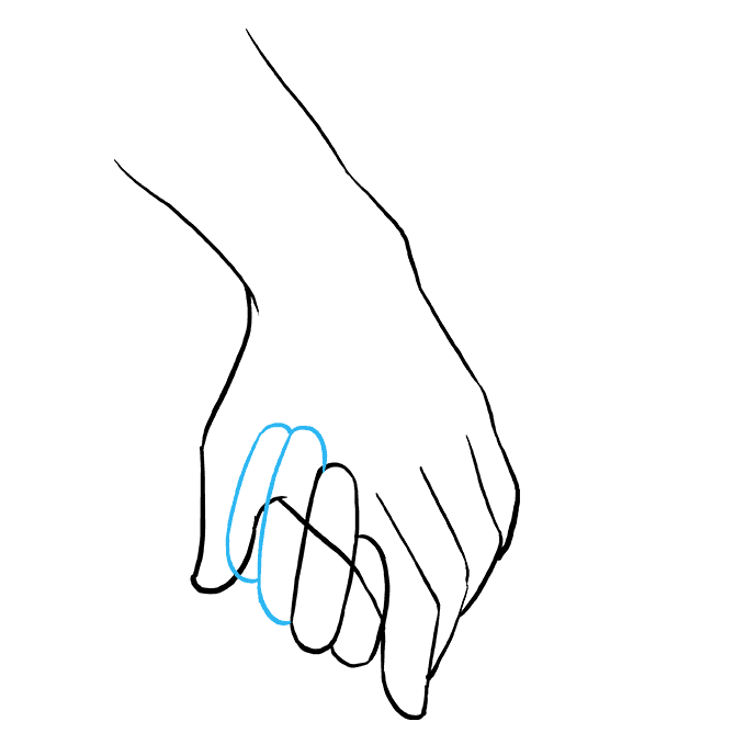 Fingers drawing love. How to draw holding